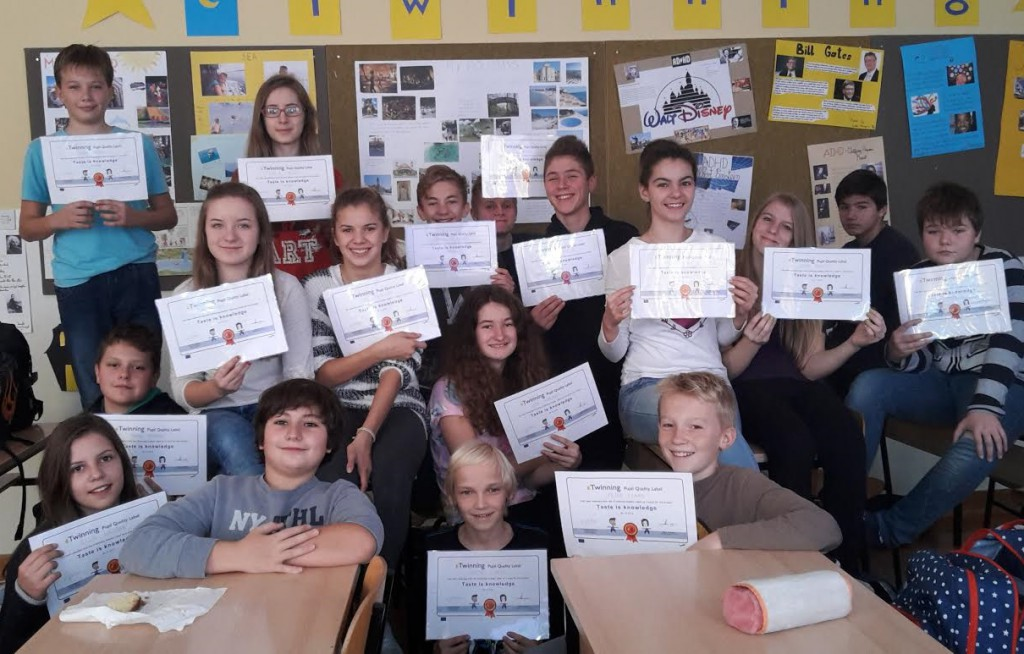 7.a 2015. Quality Label za eTwinning projekt Taste is knowledge